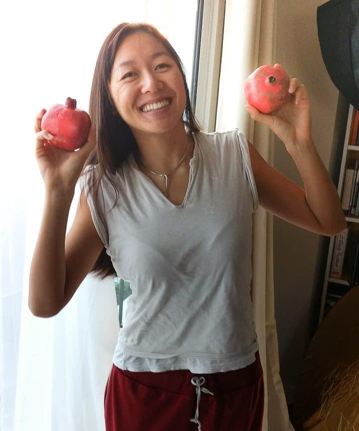Anna with pomegranates