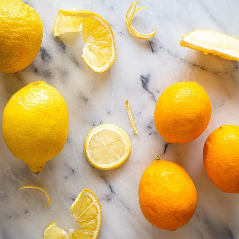 Lisbon, Eureka, and Meyer lemons compared side-by-side