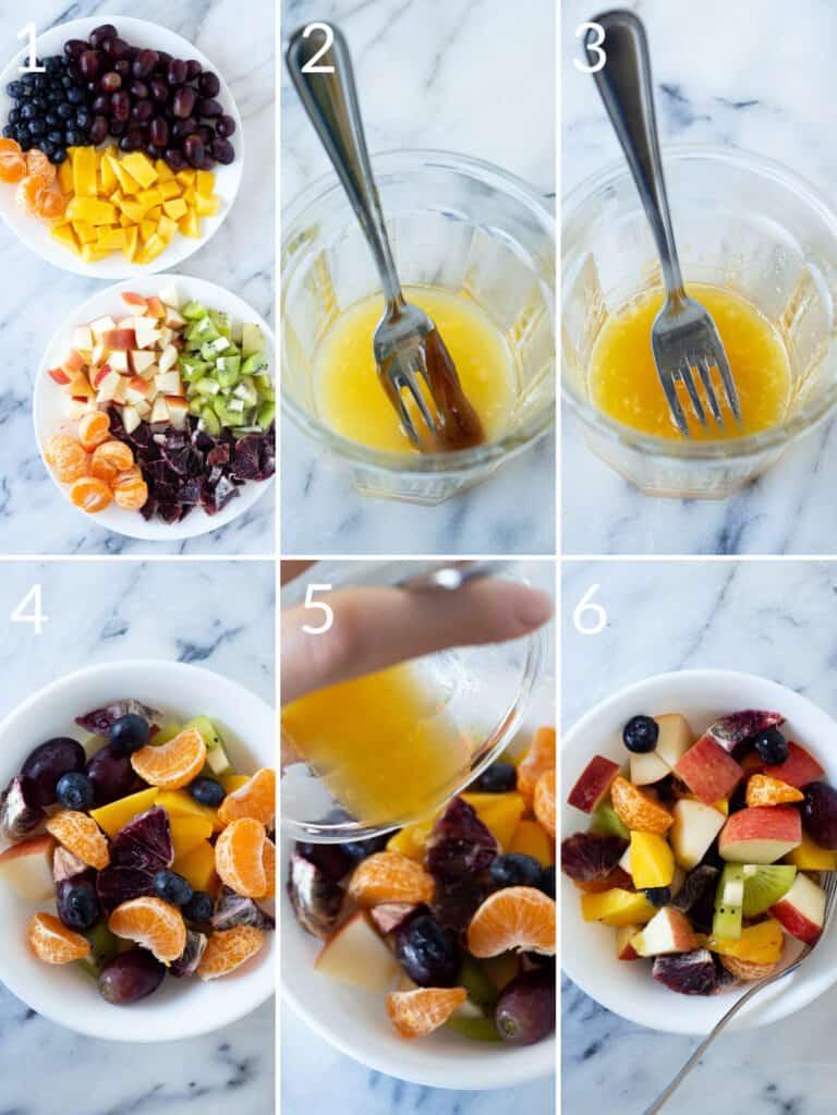 iInstructions for making homemade fruit salad