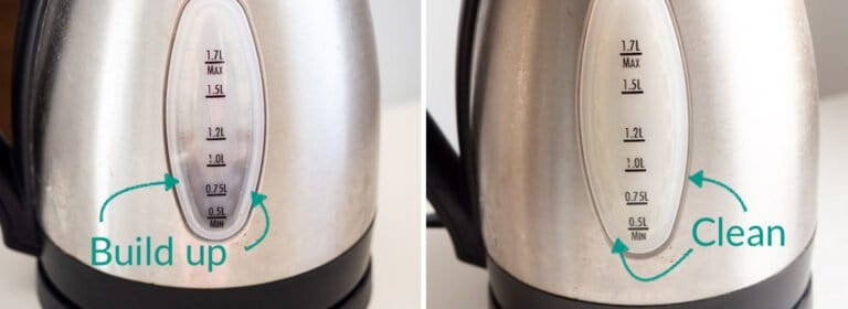 Compare the kettle's scale before cleaning and after descaling
