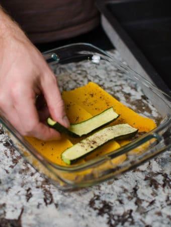 layer the squash and zucchini