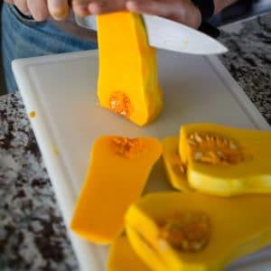 Cut the butternut squash