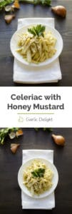 Celeriac Root with Honey Mustard Dressing -- You'll LOVE this recipe inspired by David, my father-in-law. Celeriac root, with its mild and unusual celery flavor, combined with honey mustard dressing creates this wonderfully refreshing recipe.