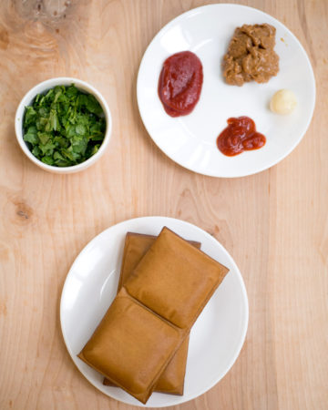 Ingredients for Five Spice Tofu with Ketchup and Peanut Butter Sauce recipe