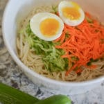 Garlic cucumber noodle salad with lao gan ma chili sauce