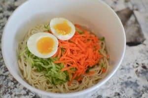 Garlic Cucumber Noodle Salad