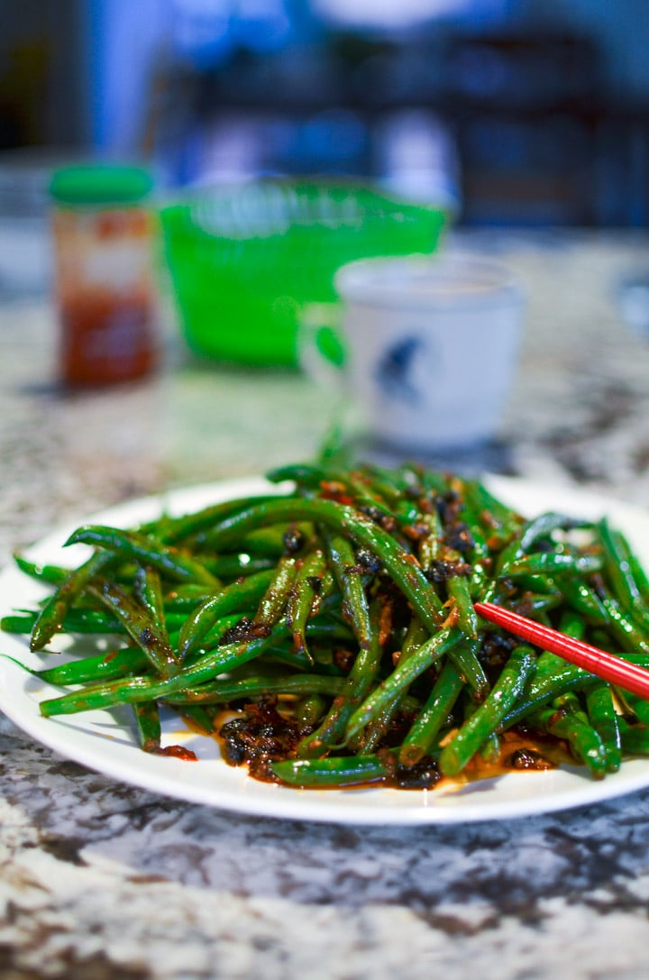 Garlic Green Beans with Chili Sauce