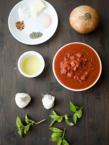 Garlic Pizza Sauce-Collect all theingredients for the garlic pizza sauce recipe. Recipe from garlicdelight.com.