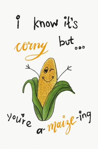 I know it's corny but you're a-maize-ing illustration with corn