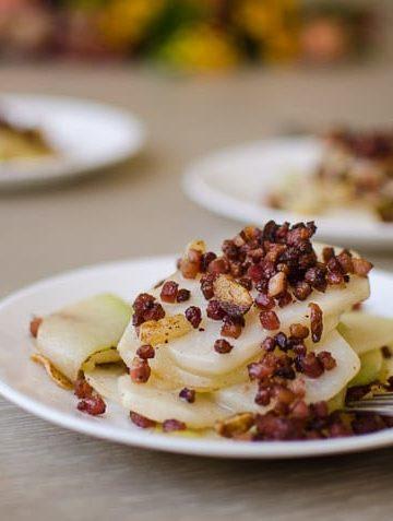 enjoy garlic Kohlrabi Pancetta