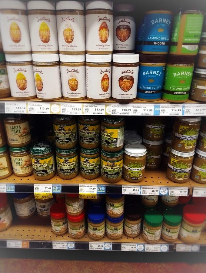 An aisle of peanut butter. Recipe from garlicdelight.com.