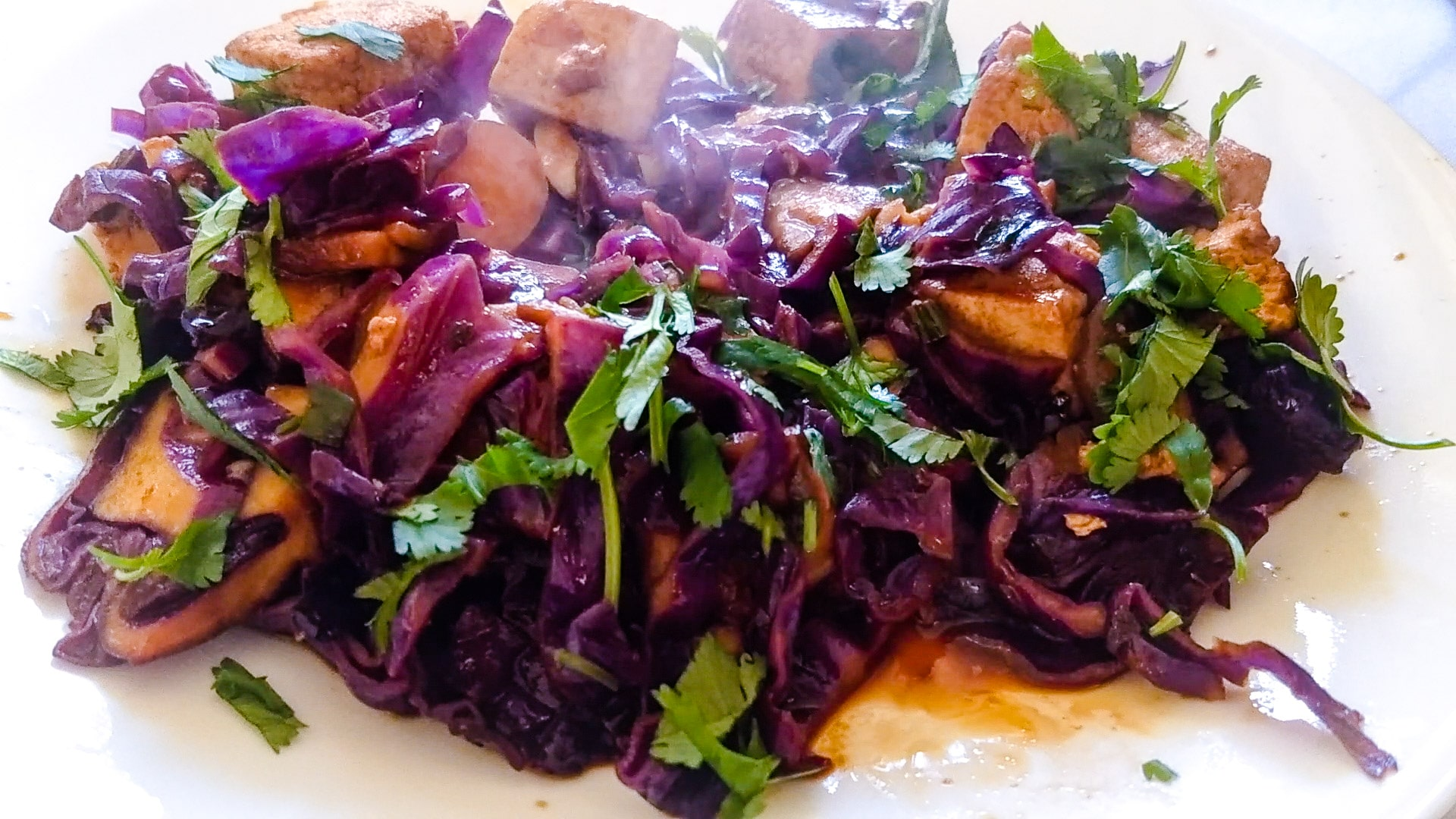 How to simplify stirfry so you can get dinner on the table in 15 minutes or less. Learn to stir fry tofu with cabbage, carrot, and mushrooms. This is a delicious and nutritious dish with umami deliciousness to satisfy your hunger.