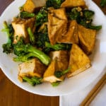 How to Stir Fry Tofu and Broccoli with Garlic, Ginger, and Hoisin Sauce cover photo