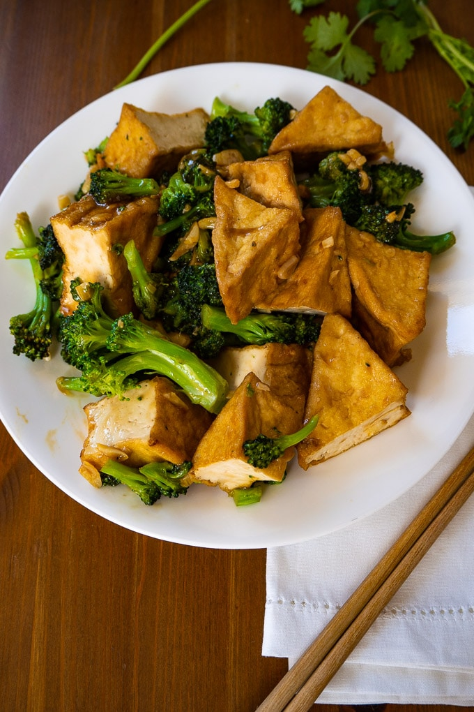 Tofu and Broccoli With Hoisin Sauce Stir Fry