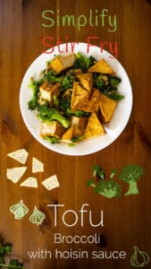 How to Stir Fry Tofu and Broccoli with Garlic, Ginger, and Hoisin Sauce Pinterest photo