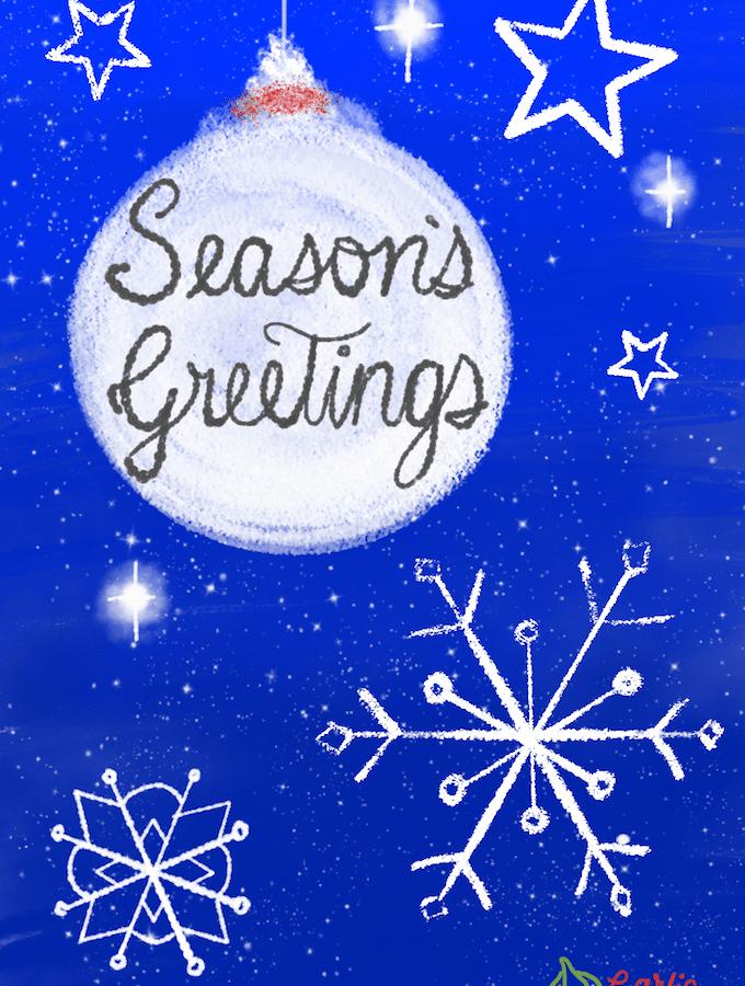Season's Greetings. Fun from garlicdelight.com.