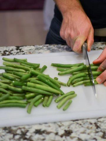 Thai Green Curry - Chop the green beans