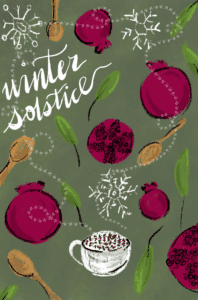 Winter Solstice. Inspiration from garlicdelight.com.