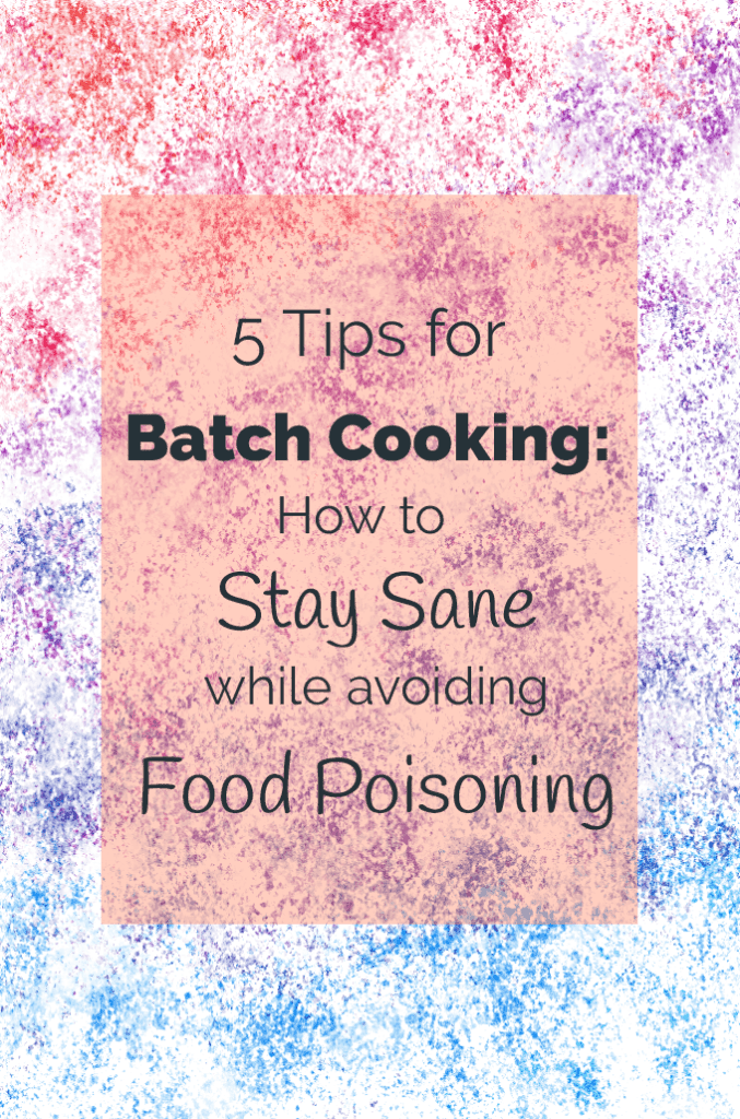 5 tips for batch cooking title image with textured background illustration