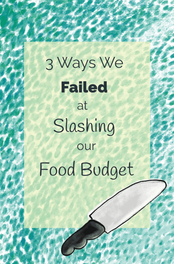 3 Ways We Failed At Slashing Our Food Budget story title illustration