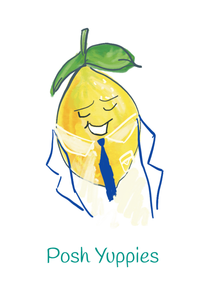 Posh Yuppie lemon illustration