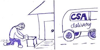 cartoon of pickup versus delivery