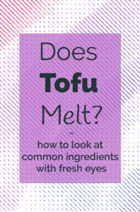 Does tofu melt illustration and Title Image