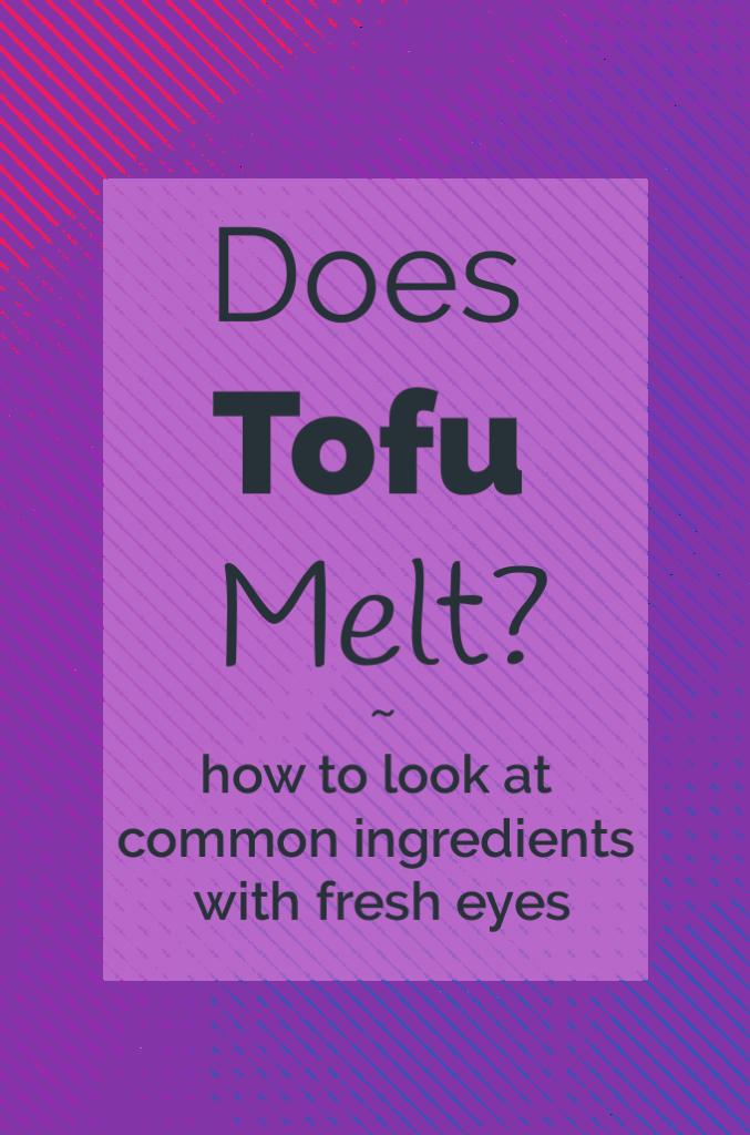 Does tofu melt illustration and Title Image